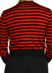 Greta Striped Cardigan - Red/Black