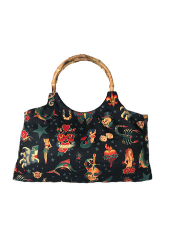 Tattoo Flash Bamboo Handbag