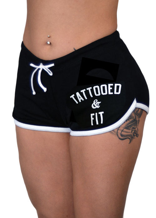 tattooed and fit shorts - pinky star