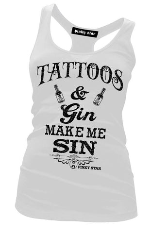 Tattoos & Gin Make Me Sin Tank Top