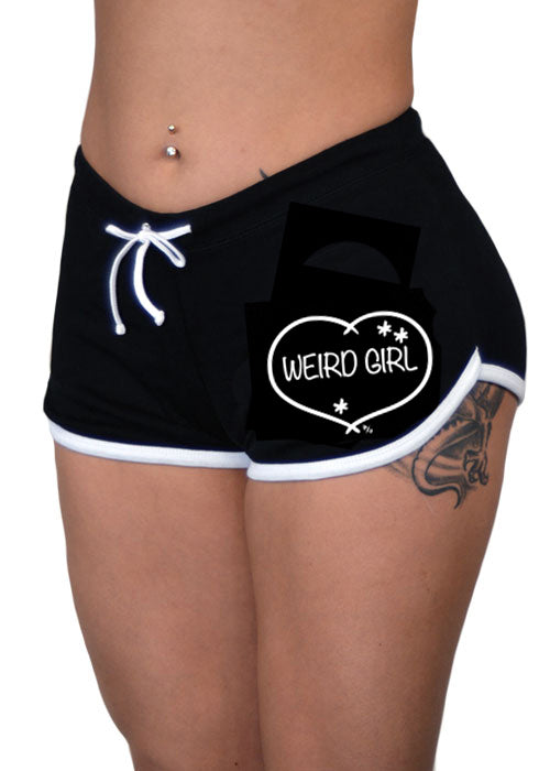 weird girl shorts - pinky star