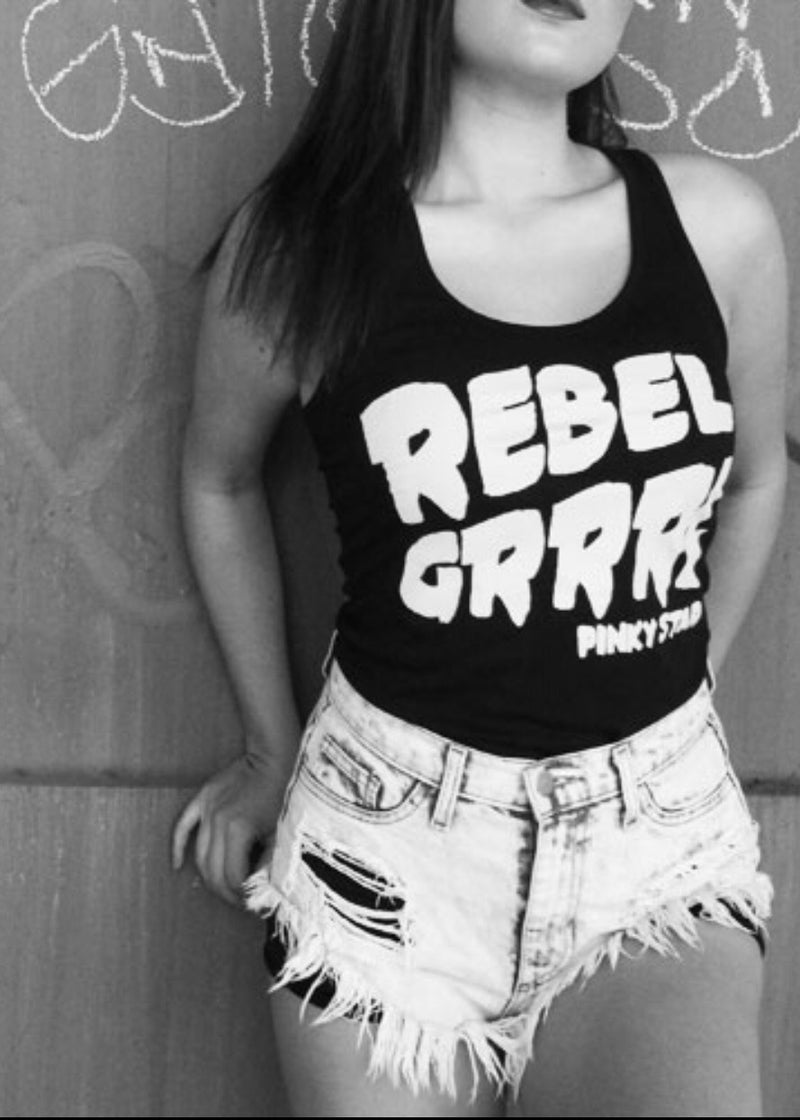 Rebel Grrrl Racerback Tank Top