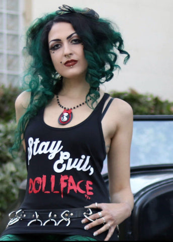 Stay Evil Dollface Tank Top