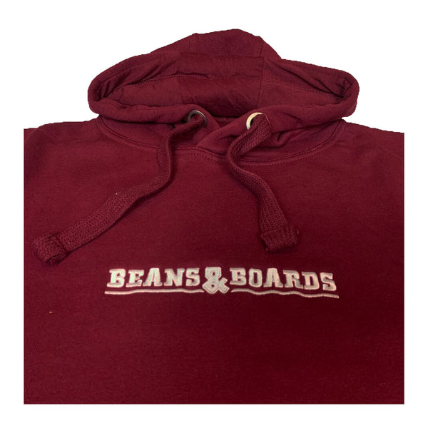 Embroidered Logo Hoodie - Burgundy