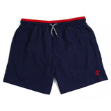 S LOGO SWIM SHORTS - NAVY / RED