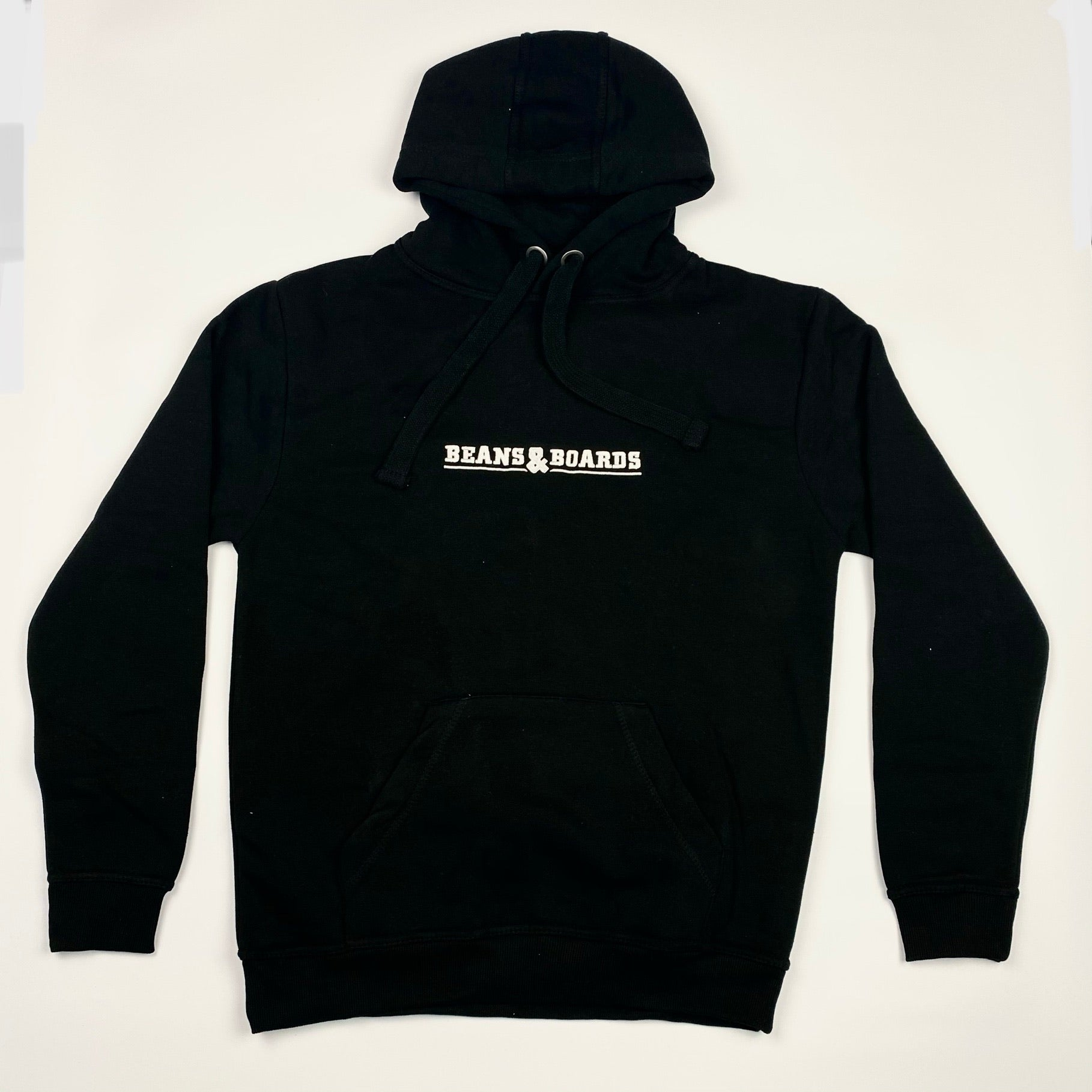 Embroidered Logo Hoodie - Black