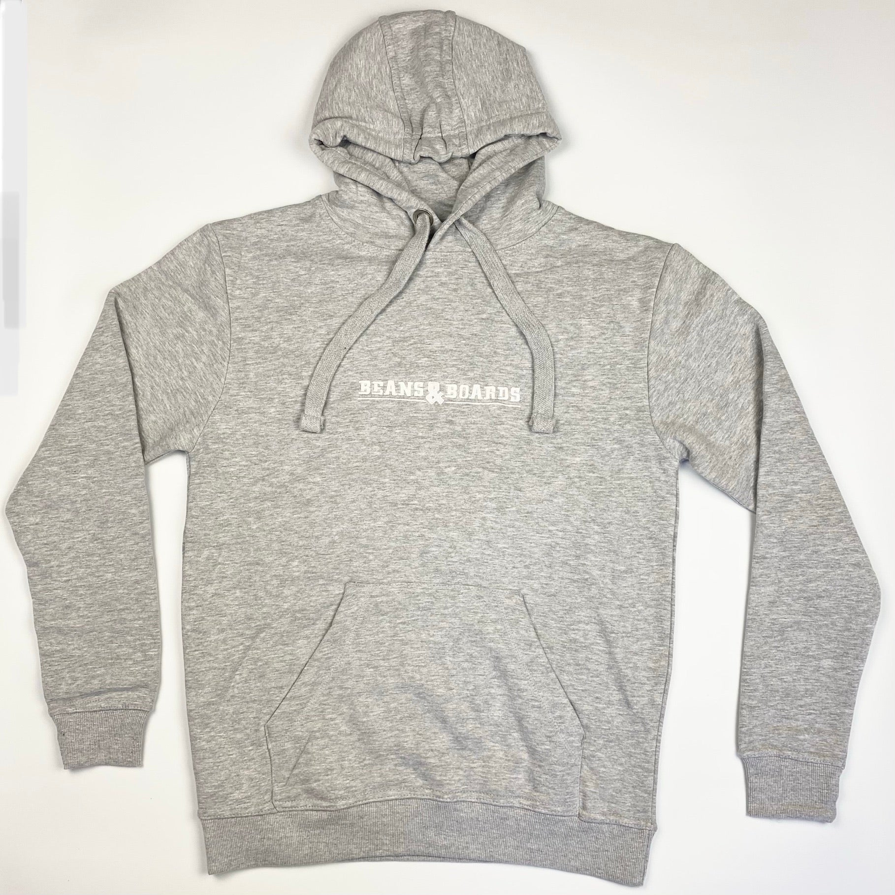 Embroidered Logo Hoodie - Heather Grey