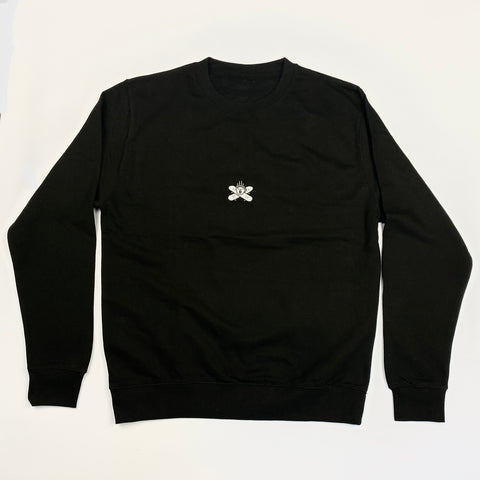 Embroidered Logo Sweatshirt - Black