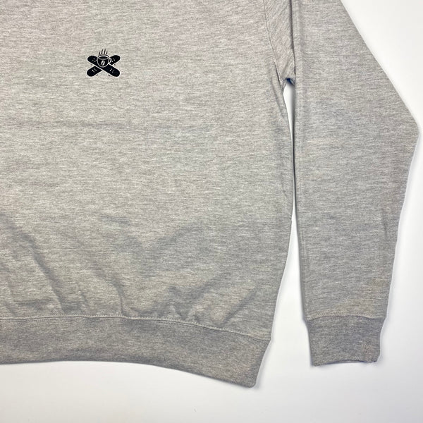 Embroidered Logo Sweatshirt - Heather Grey