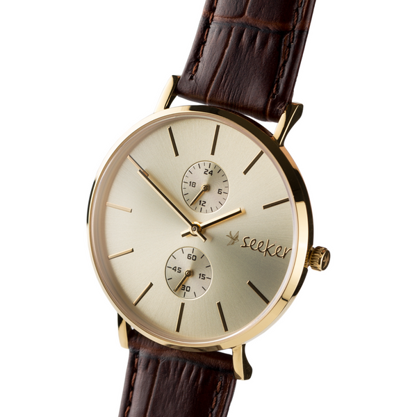 THE AAL GOLD - Genuine leather strap