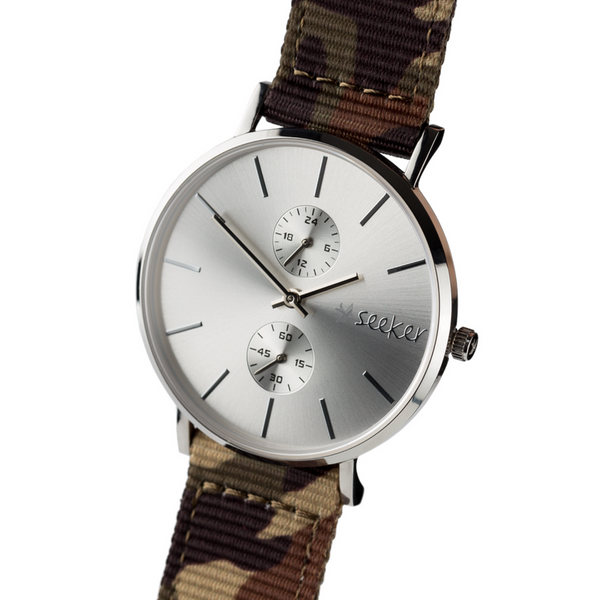 THE AAL METAL - Camouflage nylon strap