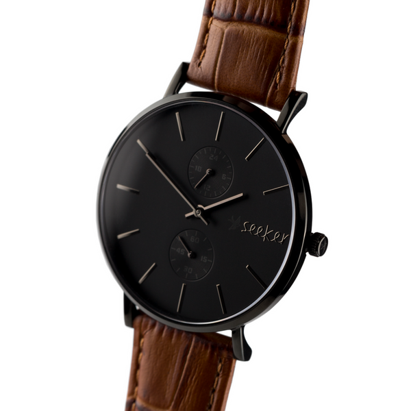 THE AAL BLACK - Genuine leather strap