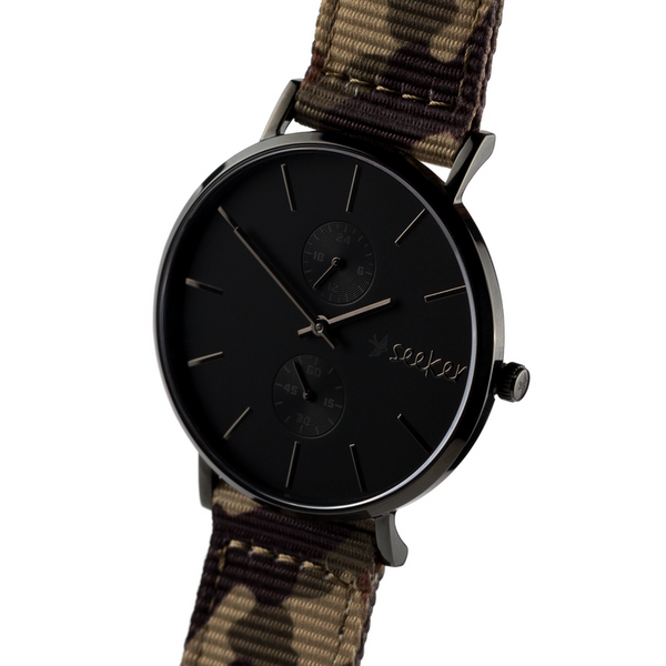 THE AAL BLACK - Camouflage nylon strap