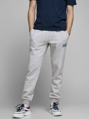 Pantalon de coton ouaté Jack & Jones Gordon Newsoft light grey melange