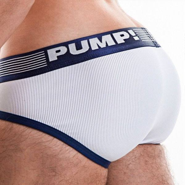 Pump Ribbed brief navy