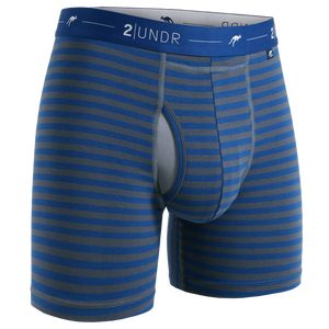 Boxer 2Undr Day shift Navy/Grey Stripes