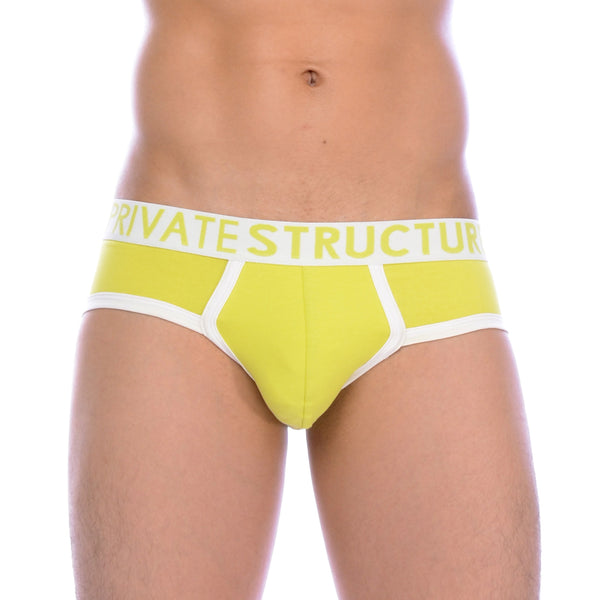 Private Structure Contour Brief Lime Green