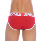Private Structure Contour Brief Red