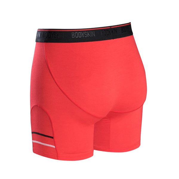 Body Skin boxer long en bambou rouge
