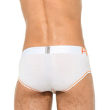 Bobette Mini Brief Platinium Tencel Yellow White