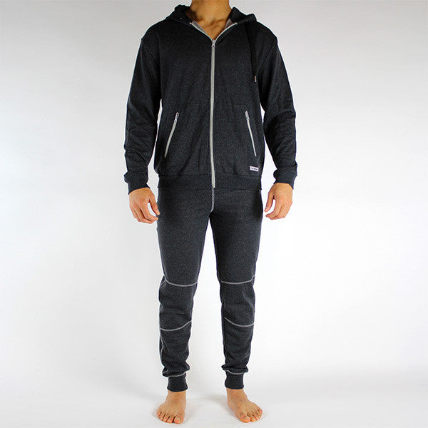 Nu Chandail Zip Homme charcoal