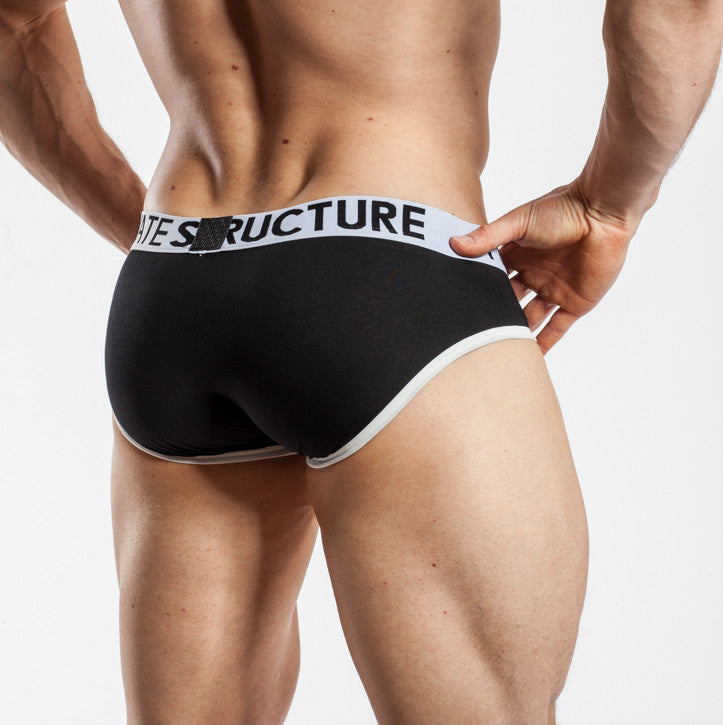 Private Structure Contour Brief Black