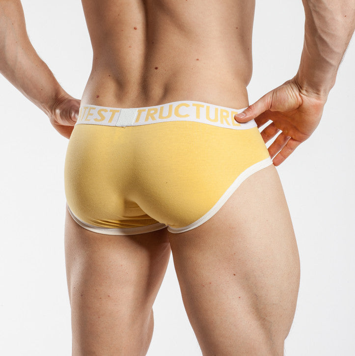 Private Structure Contour Brief Yellow
