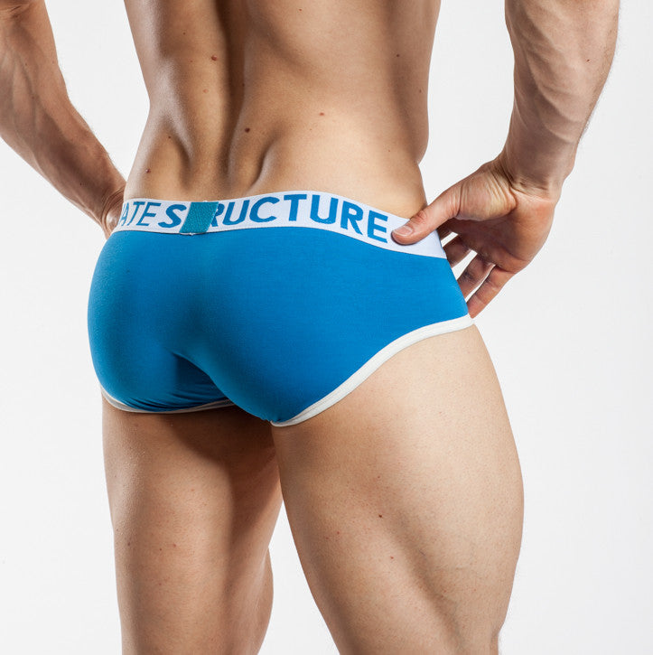 Private Structure Contour Brief Blue