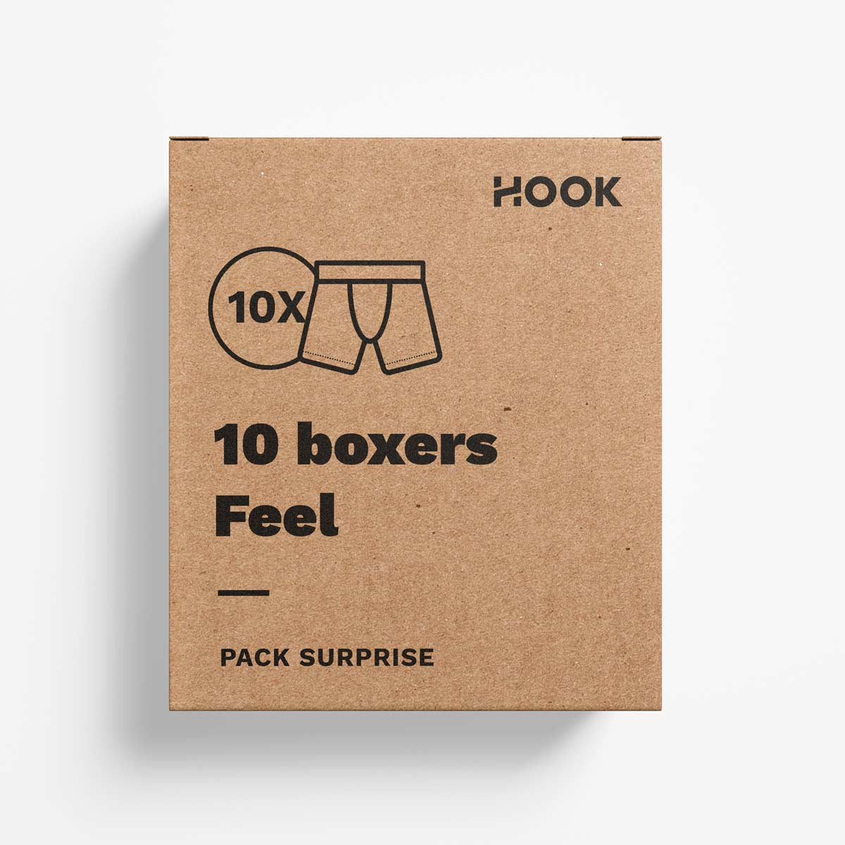 Boxer Feel par Hook : pack de 10 boxers