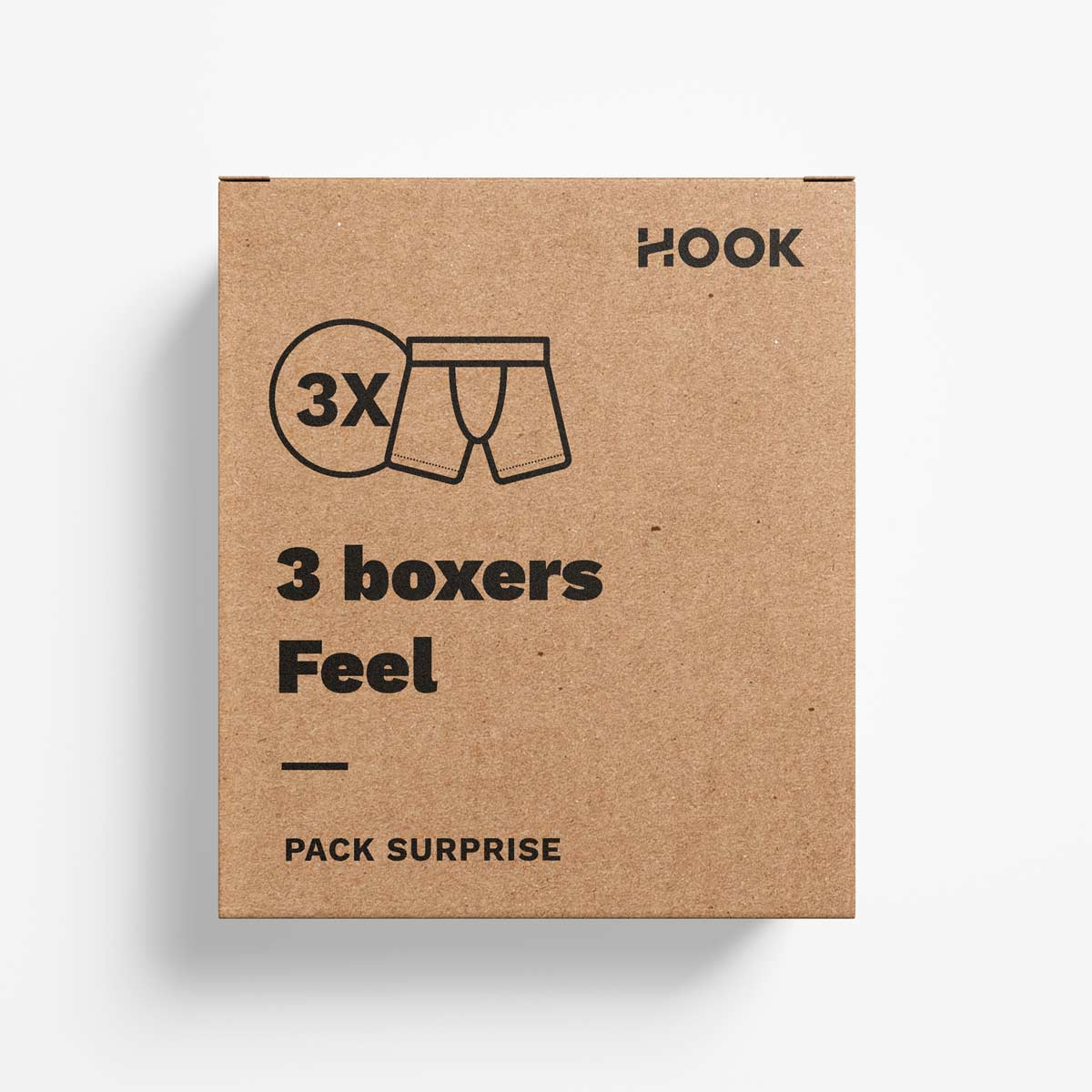 Boxer Feel par Hook : pack de 3 boxers