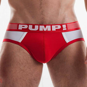 Slip Pump Red Ribbed
