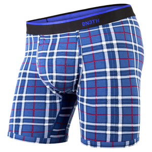 BN3TH classic boxer brief Print Fireside Plaid Navy