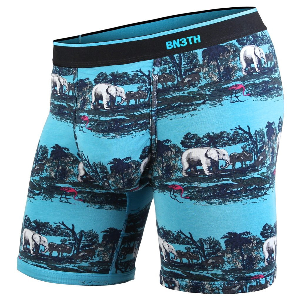 BN3TH classic boxer brief Print Savannah Teal