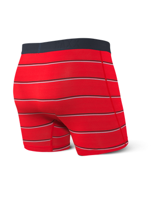 Boxer Saxx Vibe Red Shallow Stripe