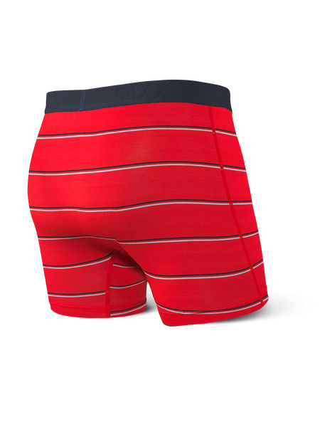 Saxx Vibe Red Shallow Stripe