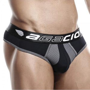 Agacio Thong Black Grey