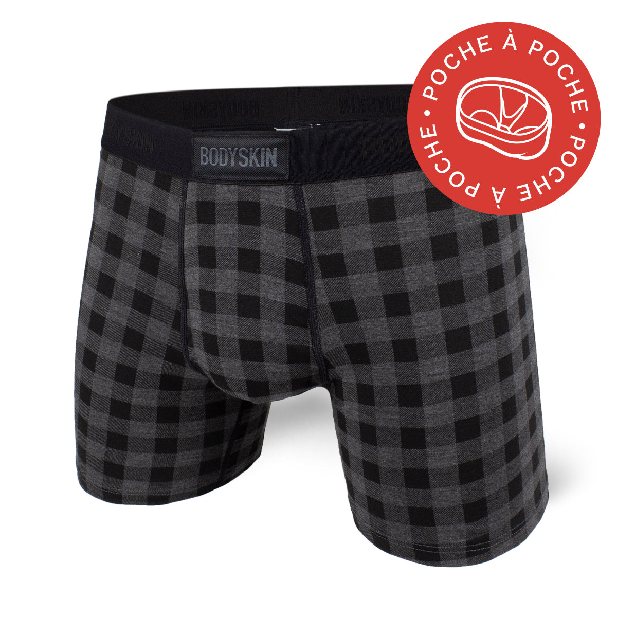 Boxer Bodyskin Lucky avec poche check black