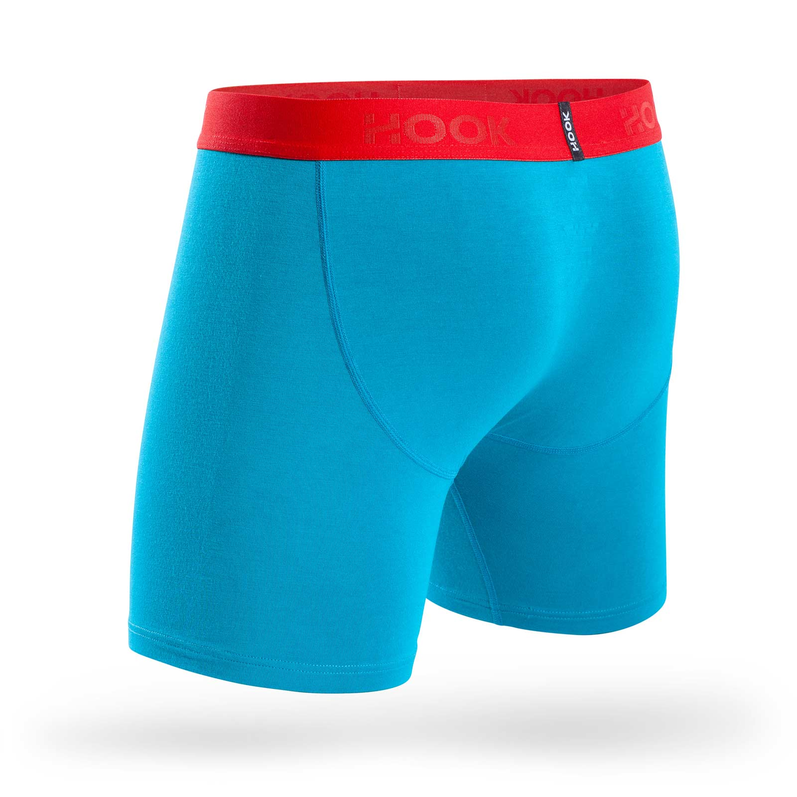 Boxer Hook Underwear Feel Cyan et Rouge