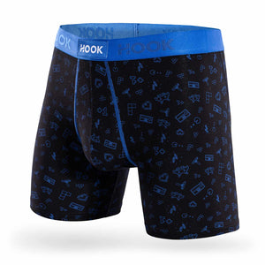 Boxer Hook Underwear Feel Game Boy noir et bleu