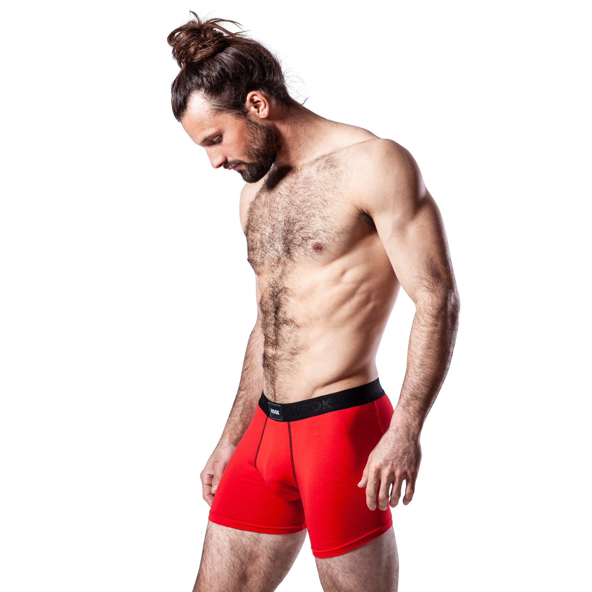 Boxer Hook Underwear Feel noir et rouge
