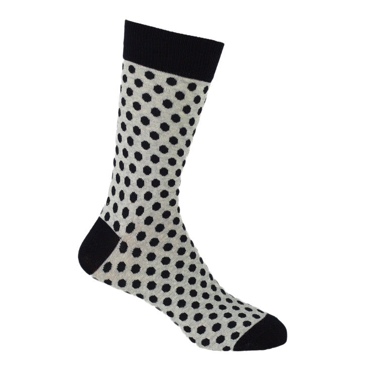 Mix Monochrome Sock Black Dots