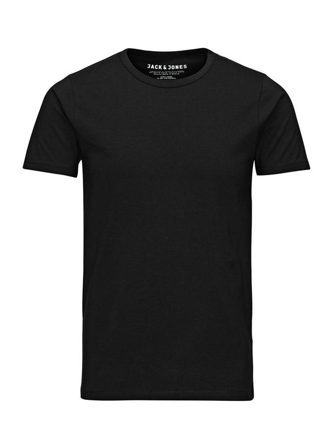 T-shirt Jack & Jones noir col rond noir
