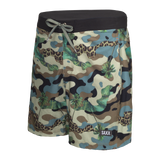 "Maillot de bain Saxx Betawave 2N1 Boardie 17"" Green Jungle Camo"