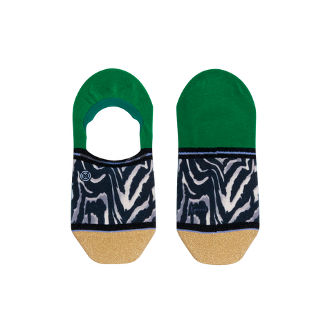 Xpooos Sockettes - Green & Gold