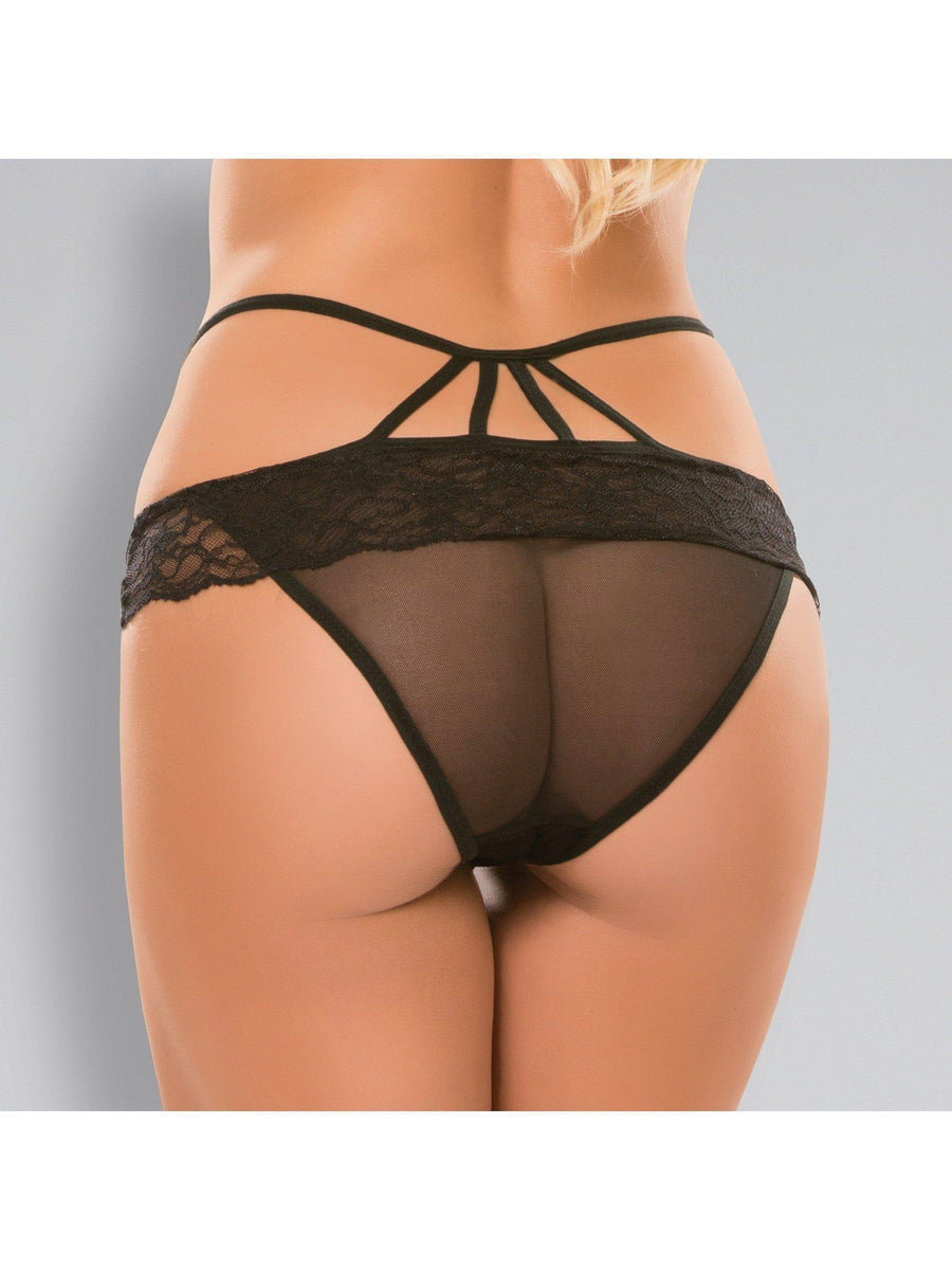 Adore A1012 Damski Anioł Crotchless Sheer Panty Allure Lingerie
