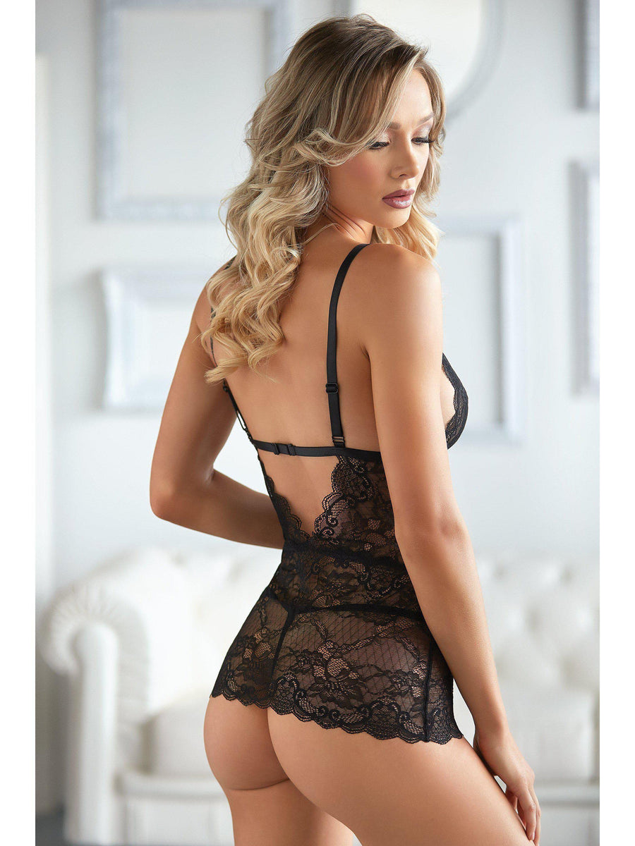 Allure 17-3002 Dahlia Lace Chemise with G-string Allure Lingerie