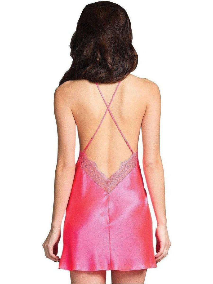 Be Wicked IS-BW1631HP Dainty Satin Slip, Hot Pink, Med Size Be Wicked