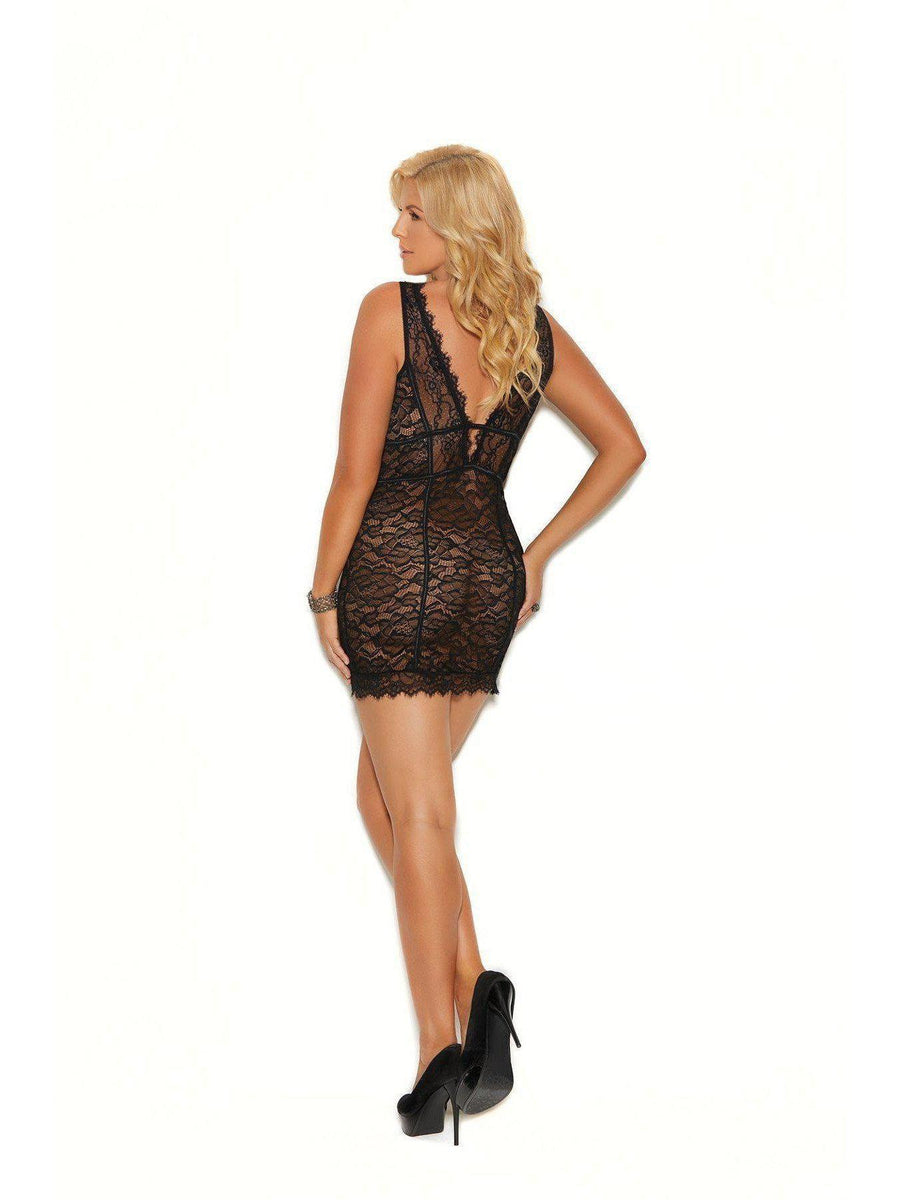 Elegant Moments  EM-80025X Double Band Empire Waist Chemise Elegant Moments