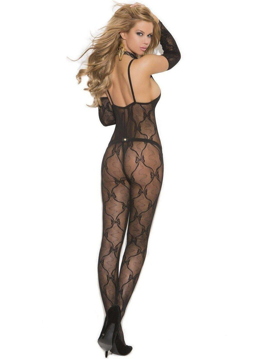 Elegant Moments EM-1604 Bow Tie Bodystocking also in plus size Elegant Moments