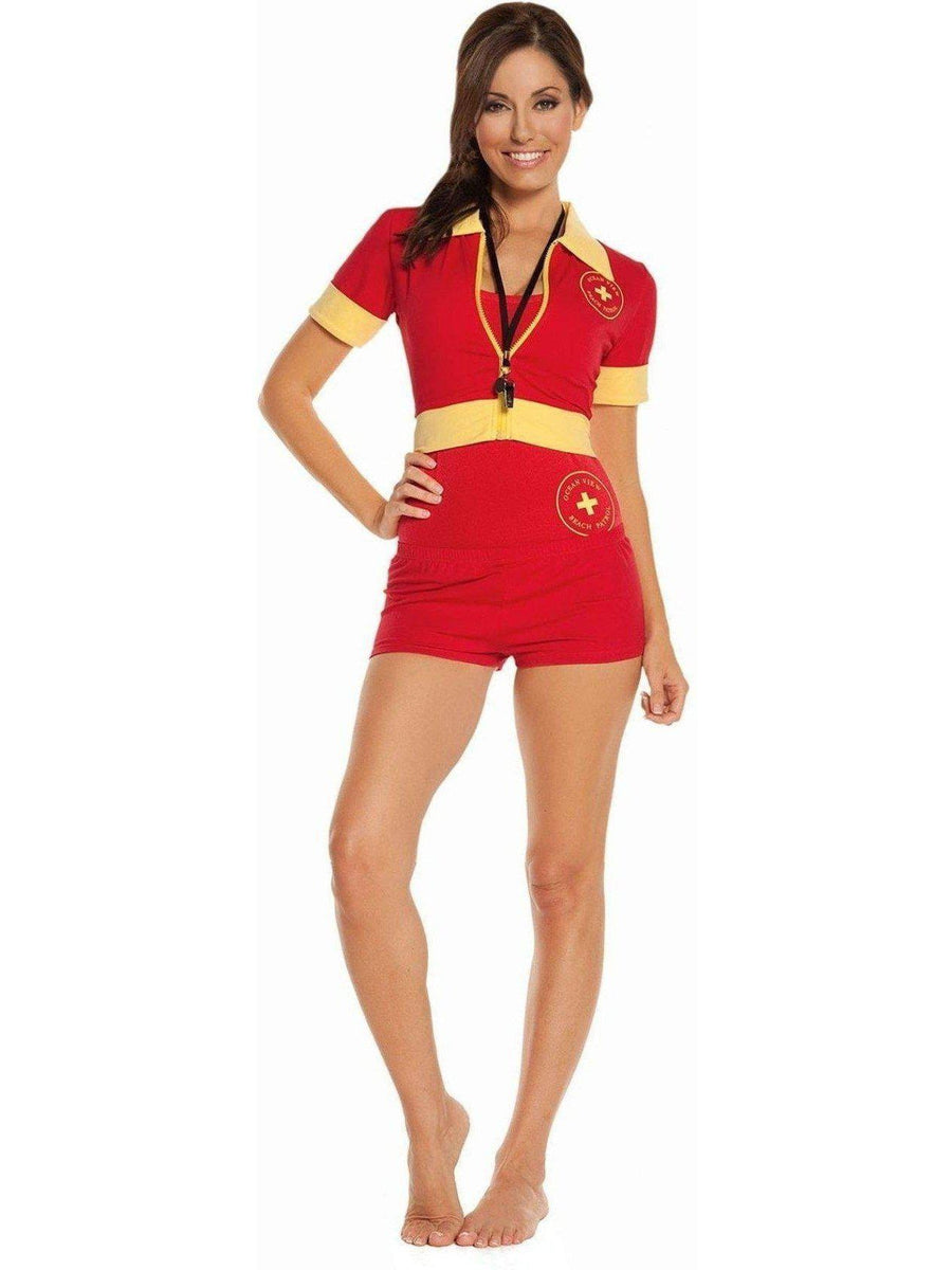 Elegant Moments EM-9610 4PC Ocean Veiw Life Guard Costume Elegant Moments